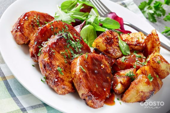 Cotlet de porc marinat la Varoma și cuptor