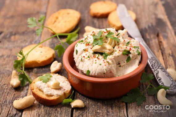 Cremă de brânză vegetală din caju