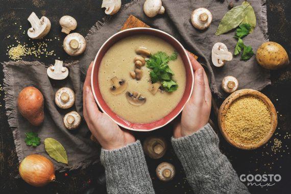 Supă cremă de ciuperci la Thermomix