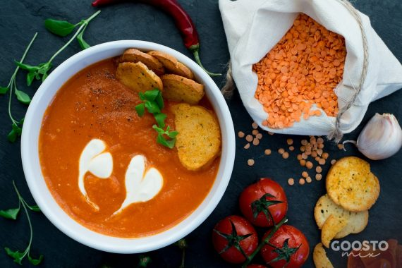 Supă cremă de linte roșie la Thermomix