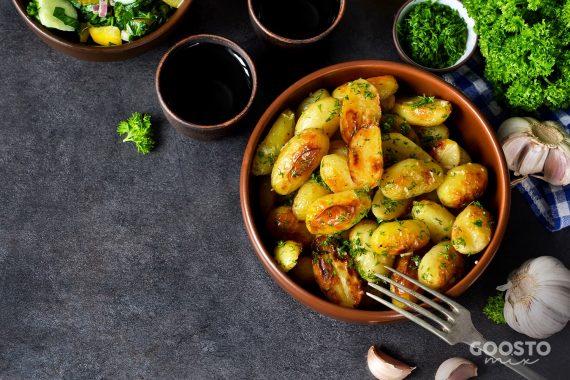 Cartofi cu verdețuri și usturoi la Thermomix