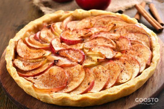 Tartă raw vegană cu mere, fără gluten, la Thermomix