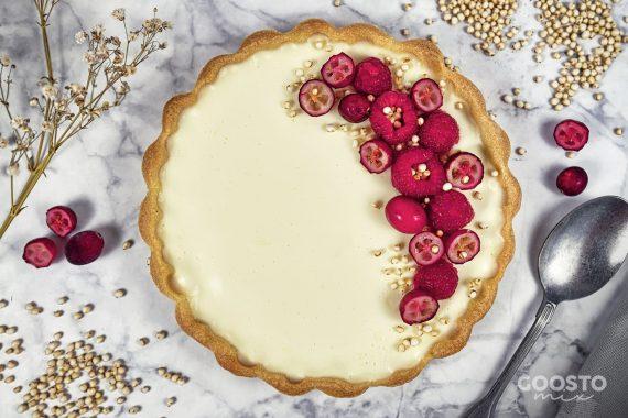 Tartă dulce cu lapte și vanilie