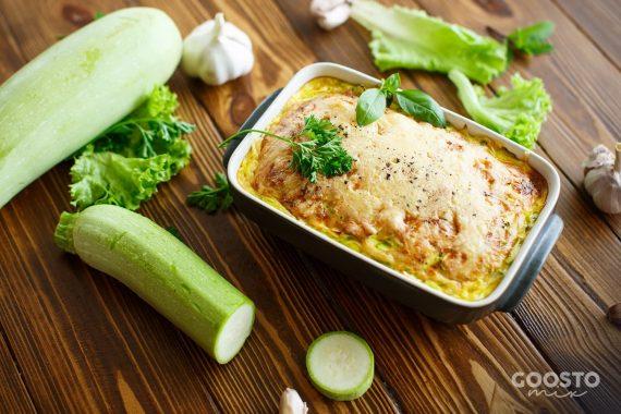 Vinete și dovlecei cu legume la cuptor