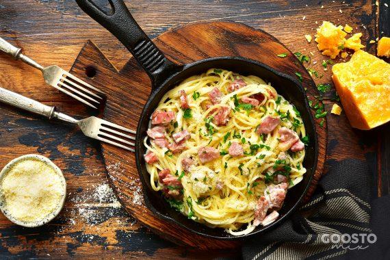 Spaghete carbonara la Thermomix