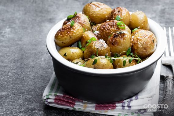 Cartofi noi cu usturoi la Thermomix