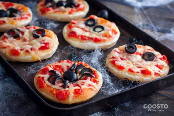 Mini pizza de Halloween la Thermomix