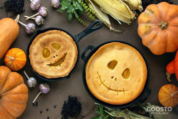 Plăcintă cu dovleac decorată de Halloween la Thermomix