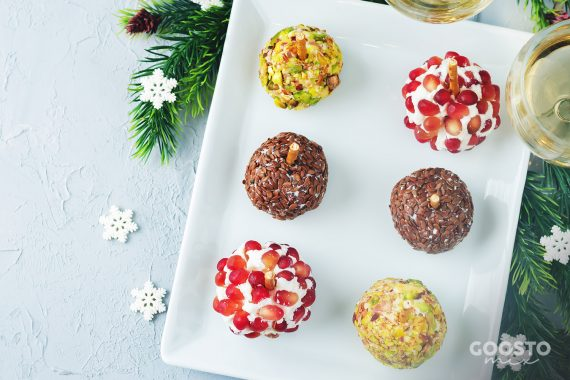 Biluțe vegane cu migdale pentru masa de Crăciun