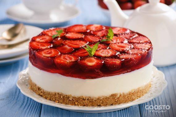 Cheesecake cu căpșuni fără coacere la Thermomix