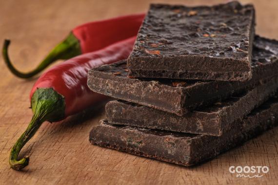 Ciocolată cu ardei iute preparată la Thermomix