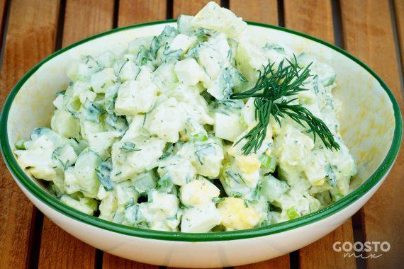 Salată de cartofi cu ceapă verde la Thermomix